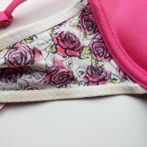 Betsey Johnson Intimates & Sleepwear - BETSEY JOHNSON Rose Micro Push Up Bra 34B NWT
